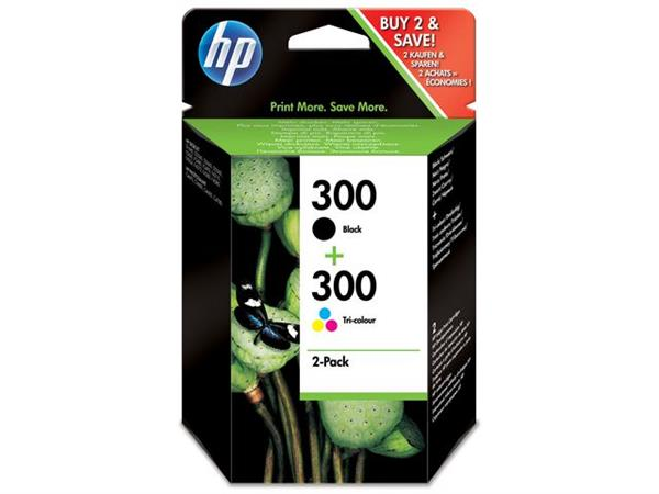 HP 300 Inktcartridge, Zwart (pak 2 stuks)