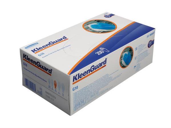 KLEENGUARD* G10 Blue Nitrile Wegwerphandschoenen, Poedervrij, Maat L, Blauw (pak 200 stuks)