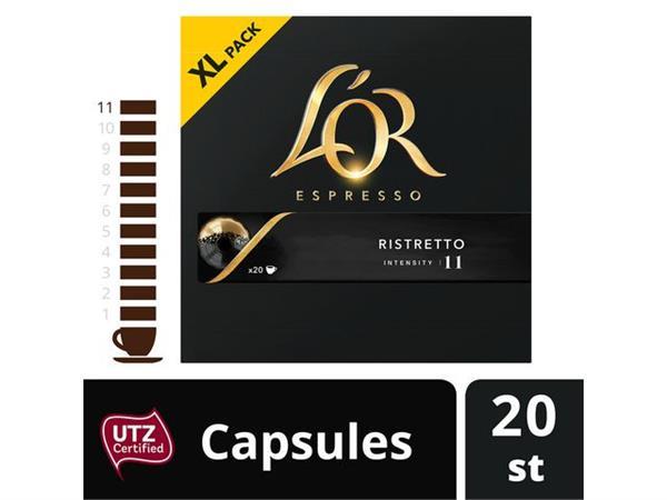 L OR Espresso Ristretto, koffiecapsules, 20 stuks (doos 10 x 20 stuks)