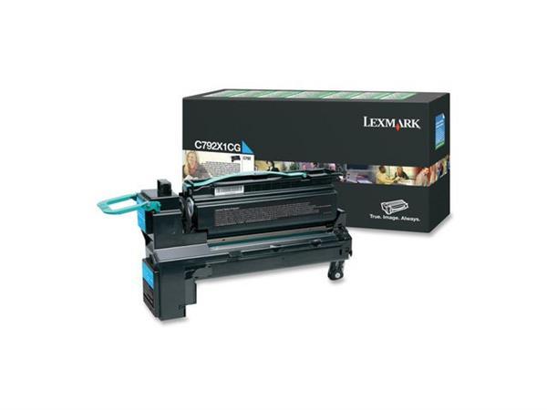 Lexmark C792 Toner, Single Pack, Cyaan