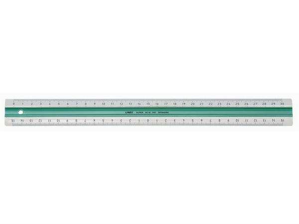 Linex Liniaal met rubberstrip 30 cm