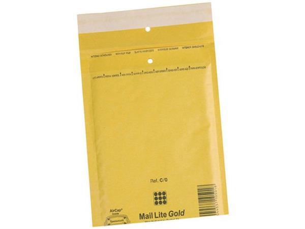 Mail Lite® Luchtkussenenvelop nr. 19, 440 x 300 mm, Kraftpapier, Goud (doos 50 stuks)