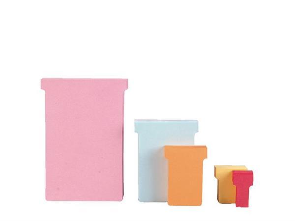 Nobo T-Kaart Maat 4, Papier, 170 g/m², 180 x 112 mm, Roze (doos 5 x 100 stuks)