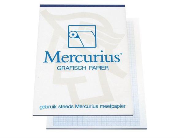 Mercurius A4 Millimeterpapier, 80 g/m², Blauw (blok 50 vel)