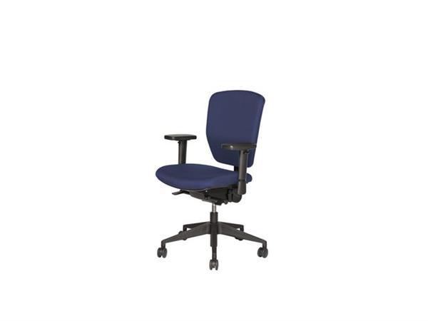 Bureaustoel Blauw Zwart.Prof Chair Professionele Bureaustoel Blauw En Zwart In Hoogte Verstelbaar Verpakt Per 1 Stuk 1