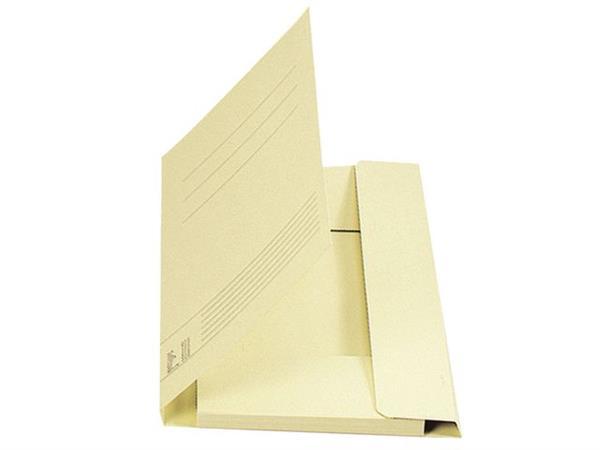 Staples Stofklepmap karton Folio, chamois (pak 25 stuks)