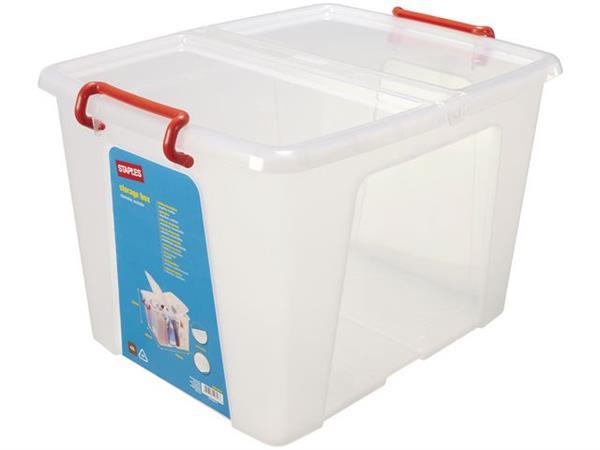 Staples Opbergboxen 42 liter, l 475 x b 395x h 320mm (doos 5 stuks)
