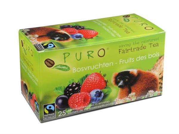 PURO Fairtrade Theezakjes, Bosvruchten (doos 6 x 25 stuks)