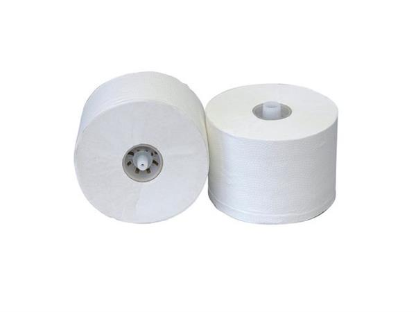 Toiletpapier Euro Tissue Wit, met dop (pak 36 rollen)