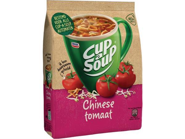 Unox Cup a Soup voor automaten Chinese tomatensoep (verpakking 636 gram) (pak 646 gram)