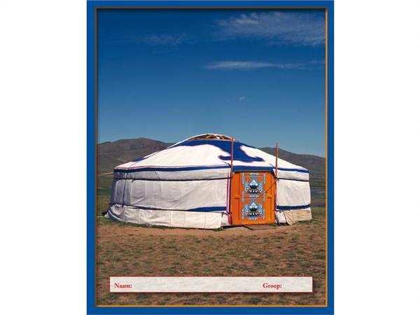 Schriften 24 lijnen yurt blauw FSC formaat 16,5 x 21 cm, 80 grs.