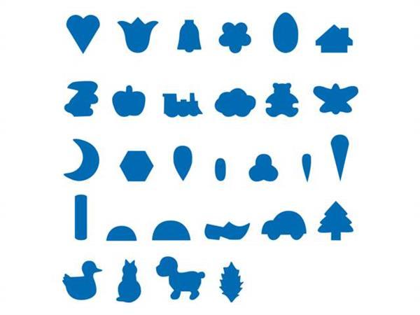 17827d1d091 Online Plakfiguren 100 zakjes van 200 stuks 10 vormen assorti ...